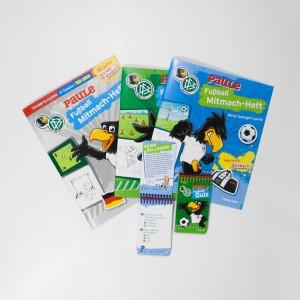 DFB Mitmach-Hefte und Quizblöcke