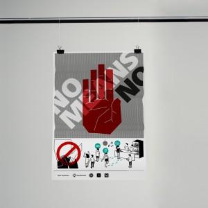 """Plakat """"No menas No"""""""